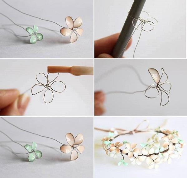 Fiori di primavera con smalto e fil di ferro - Fai da Te Creativo
