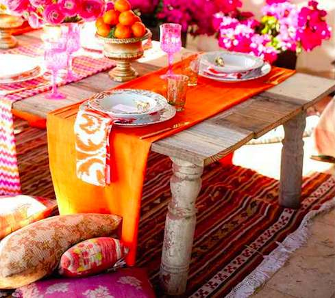 Come realizzare un tavolo in stile bohème