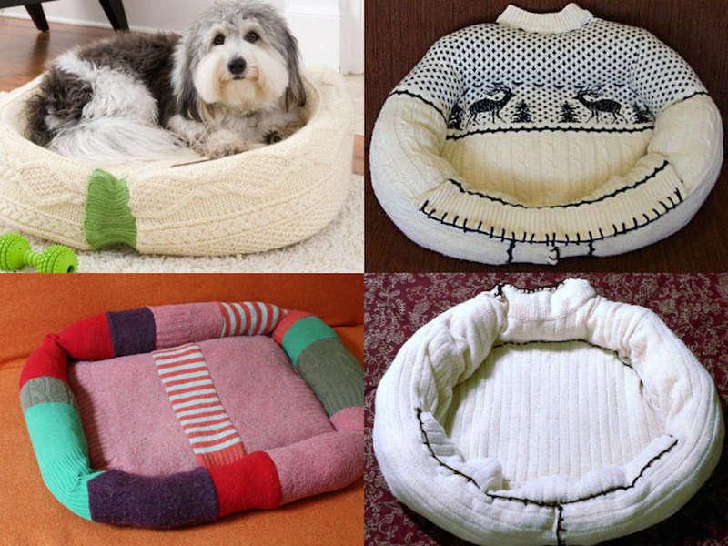 Cuccia fai da te riciclando un vecchio maglione - Fai da Te Creativo