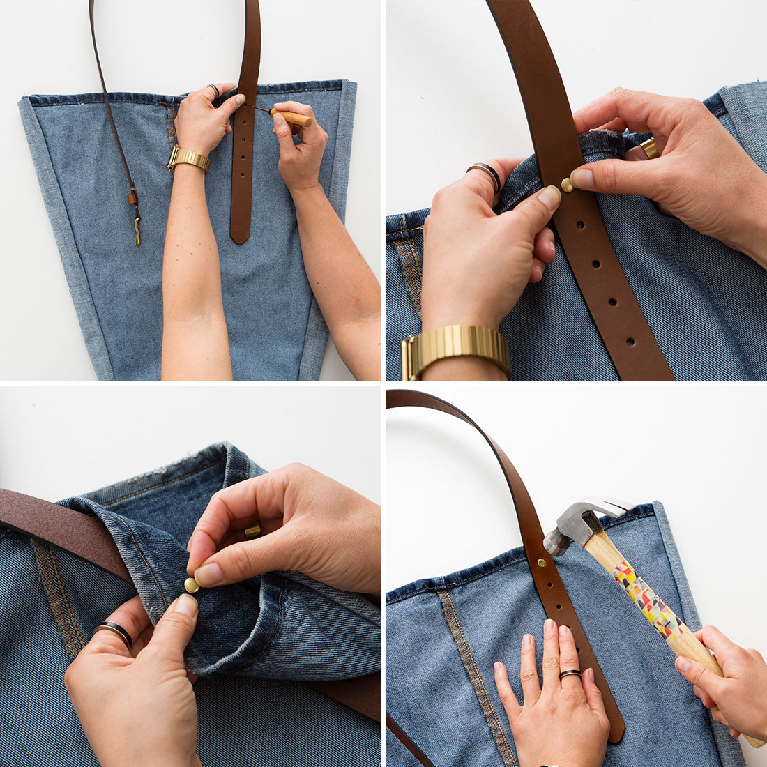 Come trasformare i vecchi jeans in una borsa