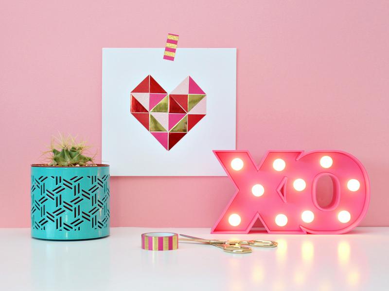 carta geometrica cuore