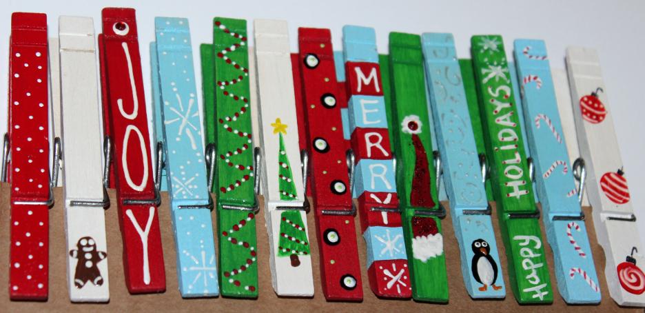 riciclare mollette e rifarle a tema natalizio