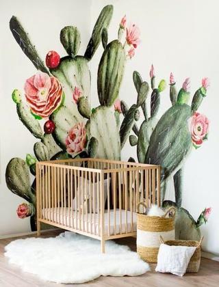 carta da parati con cactus