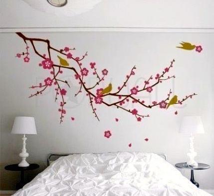 carta da parati con fiori di ciliegio
