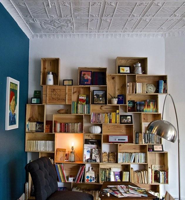 10 modi per riciclare le cassette di legno fai da te for Arredare terrazzo fai da te