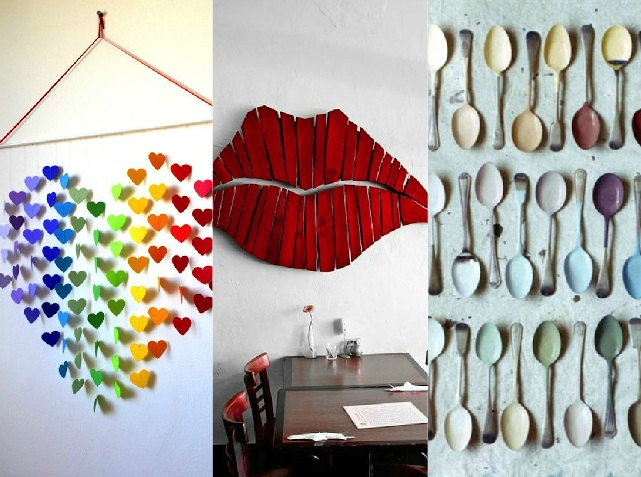 Wall art in versione creativa 10 spunti originali per le for Accessori per la casa originali