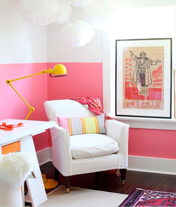 Rinnovare le pareti di casa in versione bi-color