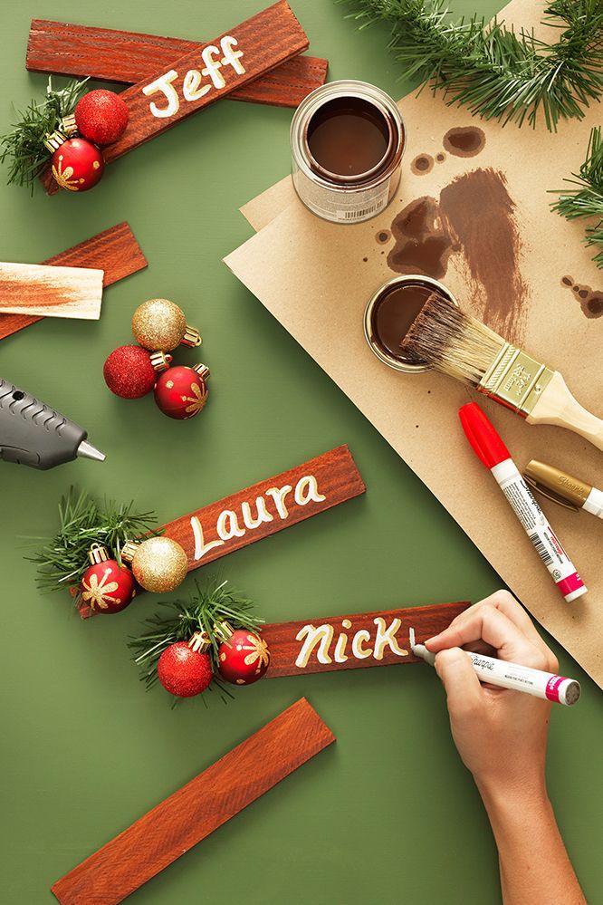 15 segnaposti natalizi fai da te fai da te creativo - Tavola di natale fai da te ...