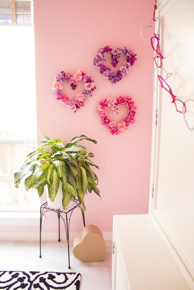 Cuori floreali fai da te
