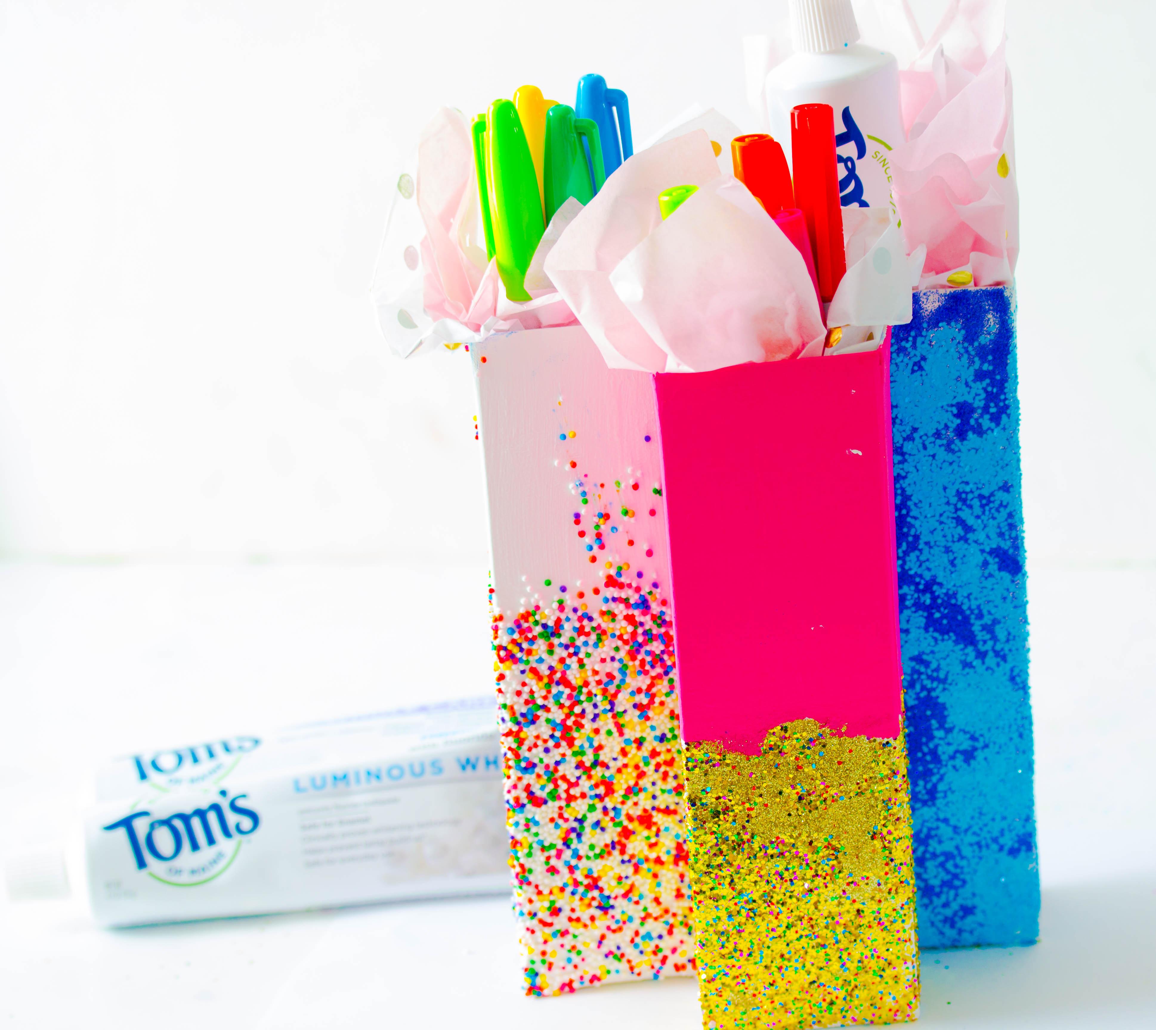 2 progetti di riciclo creativo con le scatole di dentifricio